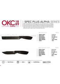 MACHETES TACTICOS SPEC PLUS ALPHA SERIES Ontario